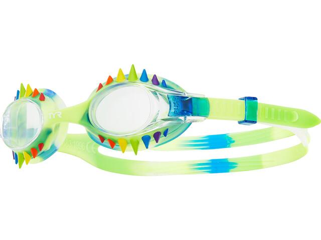 TYR Swimple Spikes Tie Dye Simglasögon Barn blue/clear